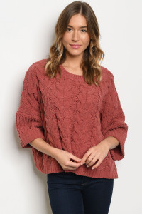 SA3-0-1-S2267 RUST SWEATER 3-2-1