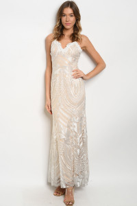 S11-19-4-D74787 WHITE NUDE DRESS 2-2-2