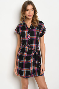 S9-18-3-D19857 BLACK CHECKERED DRESS 3-2