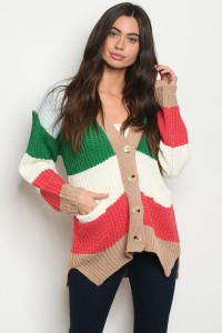 S10-19-2-S5106 GREEN MULTI SWEATER 1-2