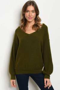 S4-7-2-S2866 OLIVE SWEATER 4-2