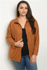 C2-B-3-J13874X CAMEL PLUS SIZE JACKET 2-2-2