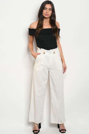 S12-10-4-P19004 OFF WHITE PANTS 2-2-2