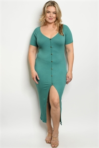 C92-A-1-D1982X JADE PLUS SIZE DRESS 2-1-3