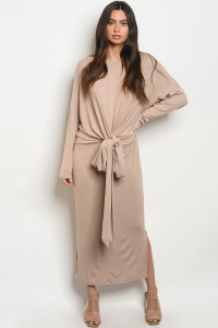 S11-19-3-D2228 TAUPE DRESS 3-2-1
