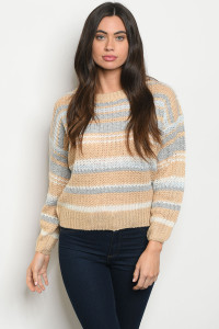 S19-11-2-S1992 BEIGE MULTI SWEATER 4-2-1