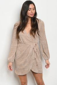 S11-10-2-D2246 TAUPE DRESS 3-2-1