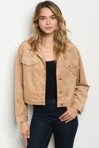 S10-1-2-J32313 TAUPE JACKET 3-2-1