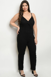 S14-8-2-J38767X BLACK PLUS SIZE JUMPSUIT 3-1-2