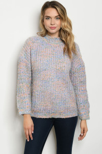 S25-8-1-S0115 LAVENDER MULTI SWEATER 3-2-1
