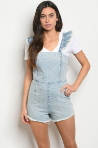 S12-5-3-R73137 LIGHT BLUE DENIM ROMPER 1-2-2-1