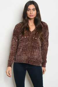 S20-4-4-S20173 BROWN SWEATER 1-2-1