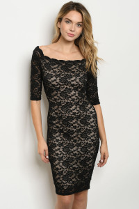 C58-A-5-D9395 BLACK NUDE DRESS 2-2-2