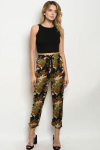 C66-A-1-P11271 OLIVE CAMOUFLAGE PANTS 3-2-2