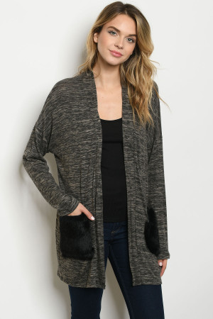C88-A-1-C7681 CHARCOAL SWEATER 2-1-2