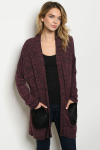 C83-A-4-C7681 BURGUNDY SWEATER 2-2-2