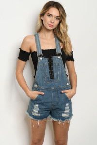S15-11-4-O1281 BLUE DENIM OVERALL 3-2-1