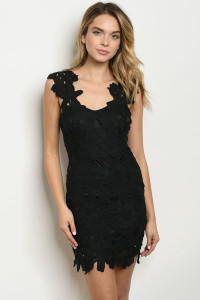 S18-12-2-D6356 BLACK DRESS / 3PCS