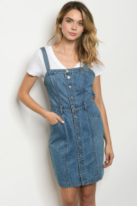S16-2-2-D18693 BLUE DENIM DRESS 1-2-2-1