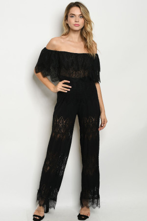 S16-1-4-J5062 BLACK JUMPSUIT 3-2-1