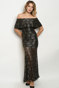 S14-5-5-D1008 BLACK GOLD DRESS 3-2-1