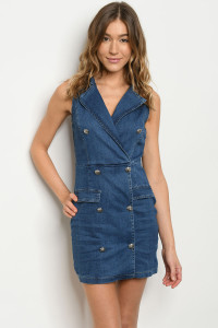 S21-11-1-D0263 BLUE DENIM DRESS 2-2-2