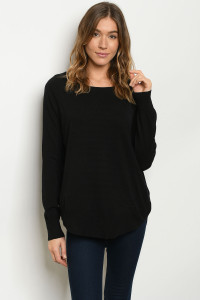 S11-2-4-S15352 BLACK SWEATER 3-2-1