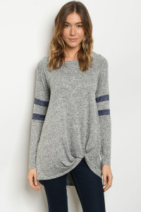 C61-A-2-T7569 GRAY NAVY TOP 2-2-2