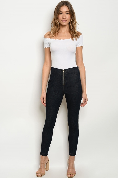 S23-5-1-P81779 DARK DENIM PANTS 3-2-1