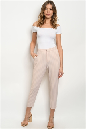 S10-20-1-P60217 PINK STRIPES PANTS 1-1-2