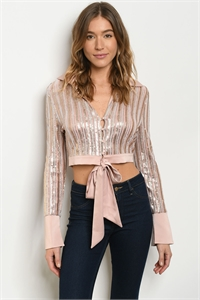 S22-13-3-J10177 BLUSH WITH SEQUINS JACKET 1-2-2-1
