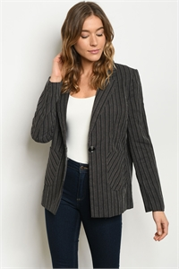 S23-3-1-B70158 BLACK STRIPES BLAZER 1-2-2-1