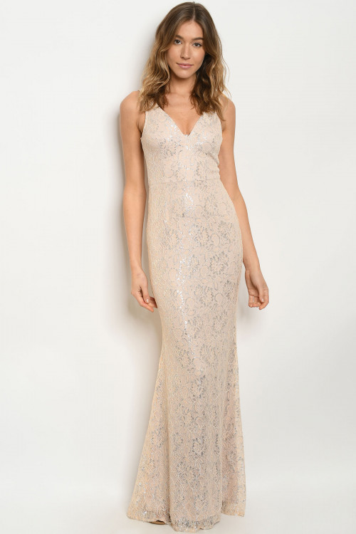 C90-A-2-D23478 BLUSH SILVER DRESS 2-3-2-2-2  ***WARNING: California Proposition 65***