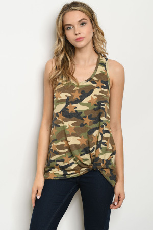 C71-A-2-T2064 BROWN CAMOUFLAGE TOP 2-2-2