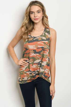 C71-A-4-T2064 ORANGE CAMOUFLAGE TOP 2-2-2