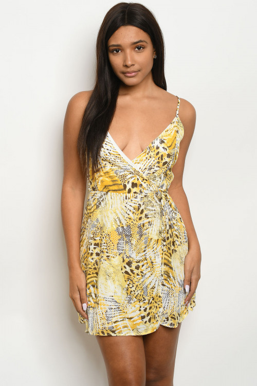 C15-A-2-D95256 YELLOW WITH PRINT DRESS 3-2-1