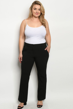 S9-5-1-P0694X BLACK PLUS SIZE PANTS 3-2-1