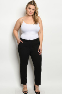 S16-3-3-P1844X BLACK PLUS SIZE PANTS 3-2-1