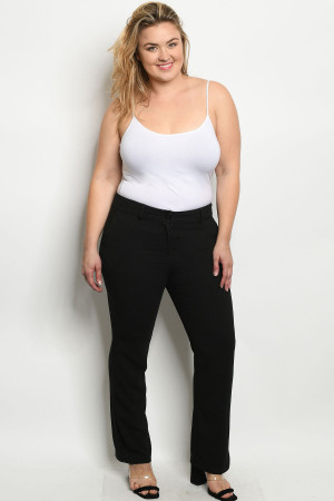 S11-6-1-P0920X BLACK PLUS SIZE PANTS 2-2-2
