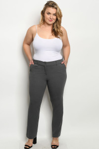 S20-10-3-P0920X GREY PLUS SIZE PANTS 2-2-2