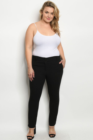S11-3-1-P1842X BLACK PLUS SIZE PANTS 3-2-1