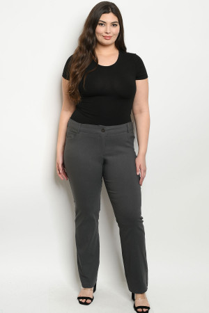 S19-10-1-P0774X GREY PLUS SIZE PANTS 2-2-3