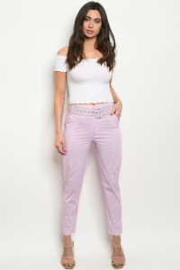 S22-12-4-P85108 PINK STRIPES PANTS 2-2-2