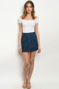 S11-10-1-S4663 DENIM SKIRT 3-2-1