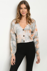 S12-6-2-T673 RUST TIE DYE SWEATER 3-2-1