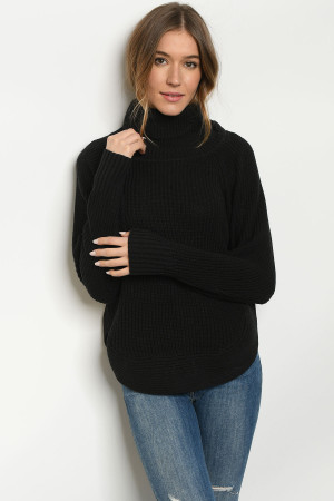 S25-8-1-T20532 BLACK SWEATER 3-2-1