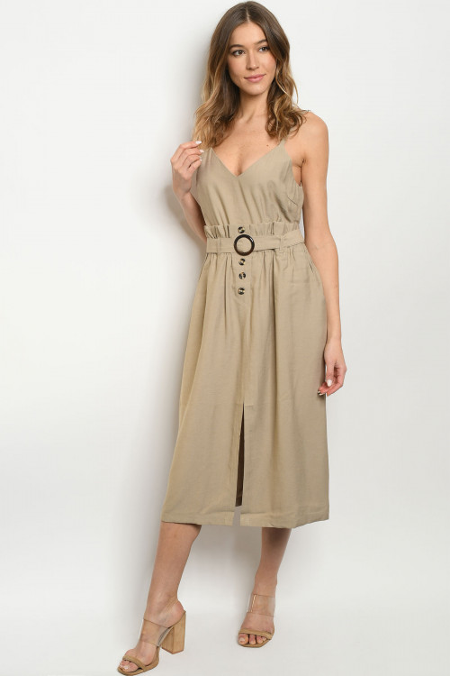 S11-7-4-D7069 TAUPE DRESS 2-2-2