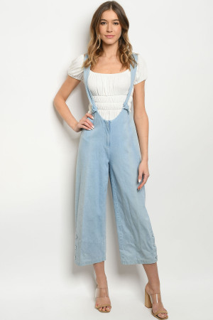 S11-11-1-O6514 BLUE DENIM OVERALL 2-2-2