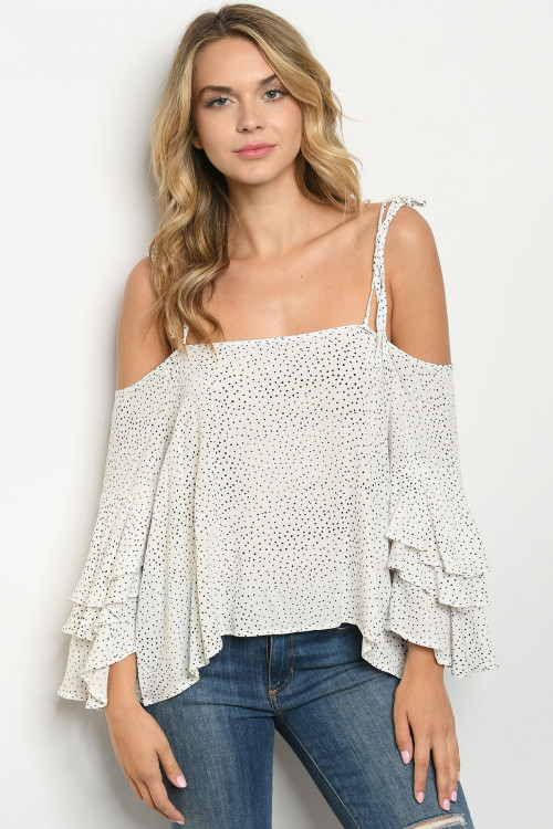 S20-12-1-T5953 OFF WHITE WITH DOTS TOP 1-2-2