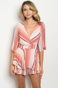 S14-10-3-D19123 PEACH BLUSH STRIPES DRESS 2-2-2